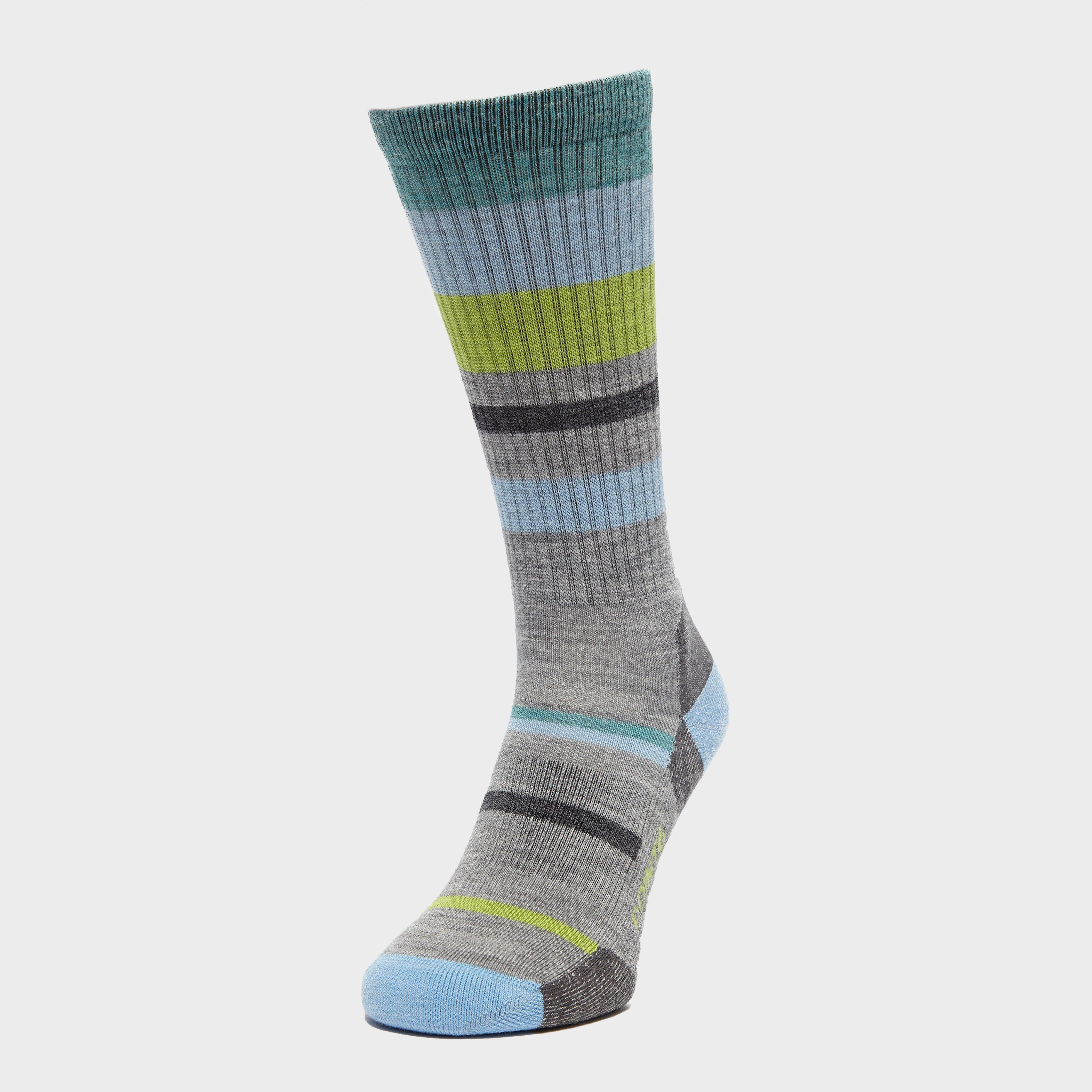 Point6 Women's Hiking Light Stripe Socks, Grey