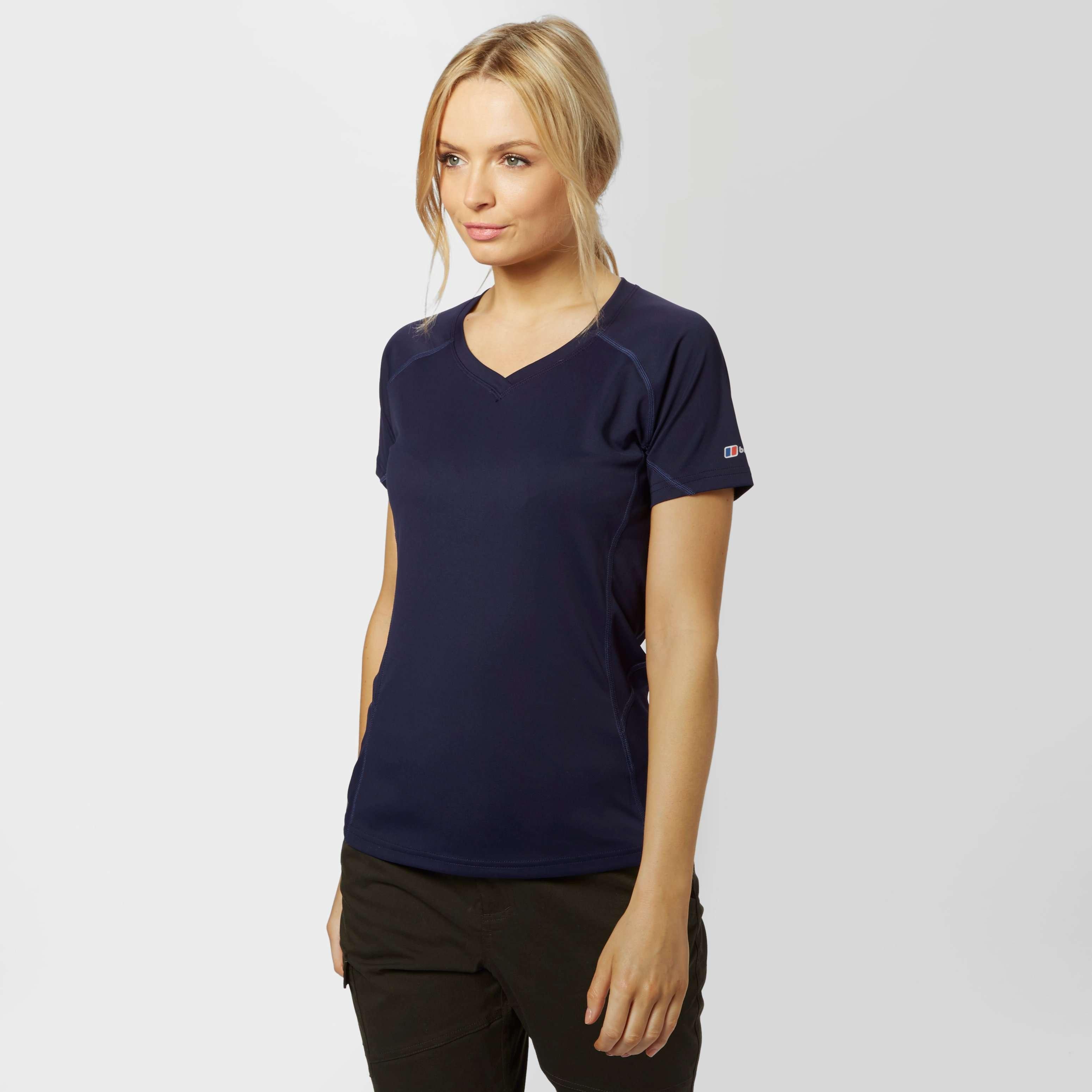 BERGHAUS Women's Short Sleeve V-Neck Tech Tee