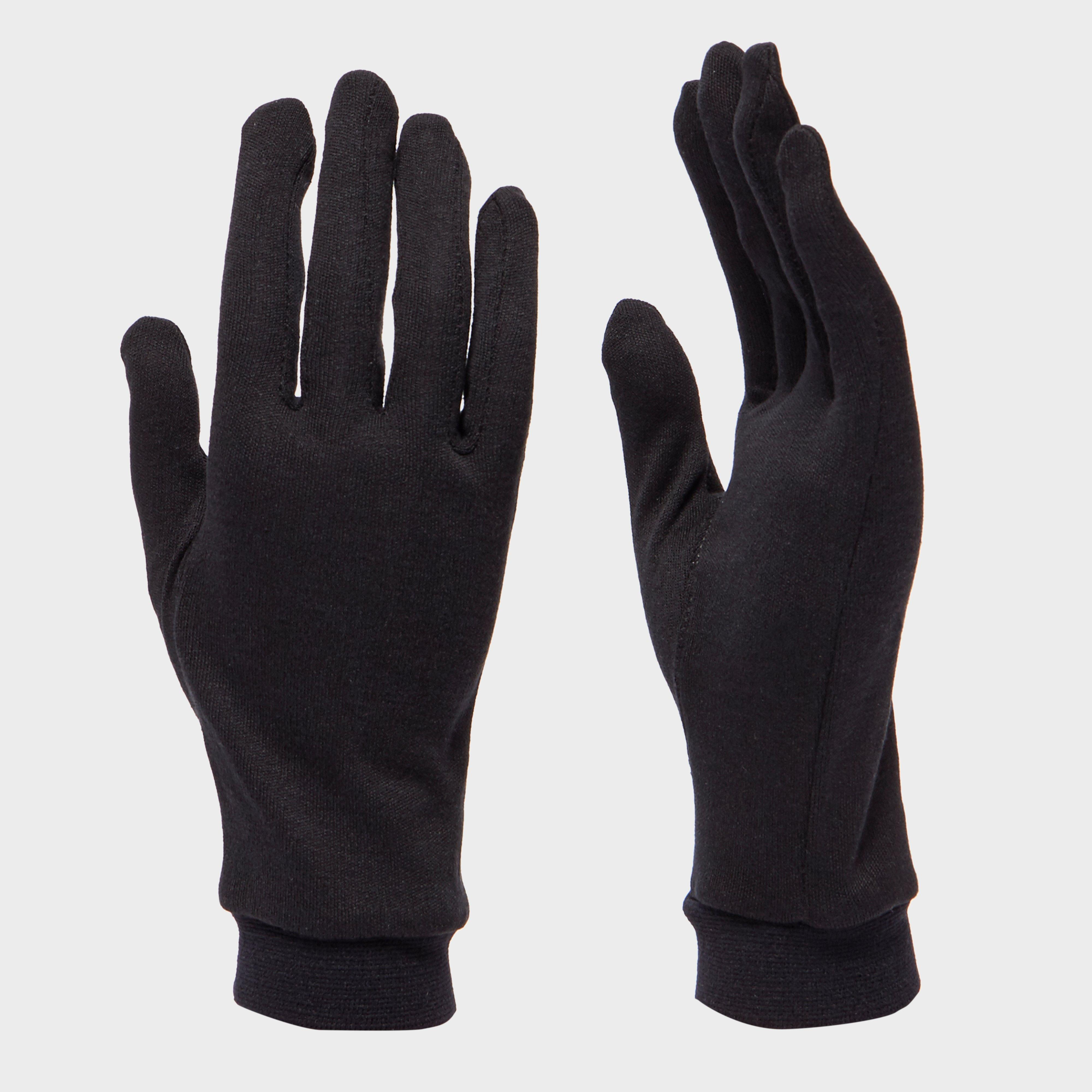 Trekmates Unisex Silk Gloves - Black, Black