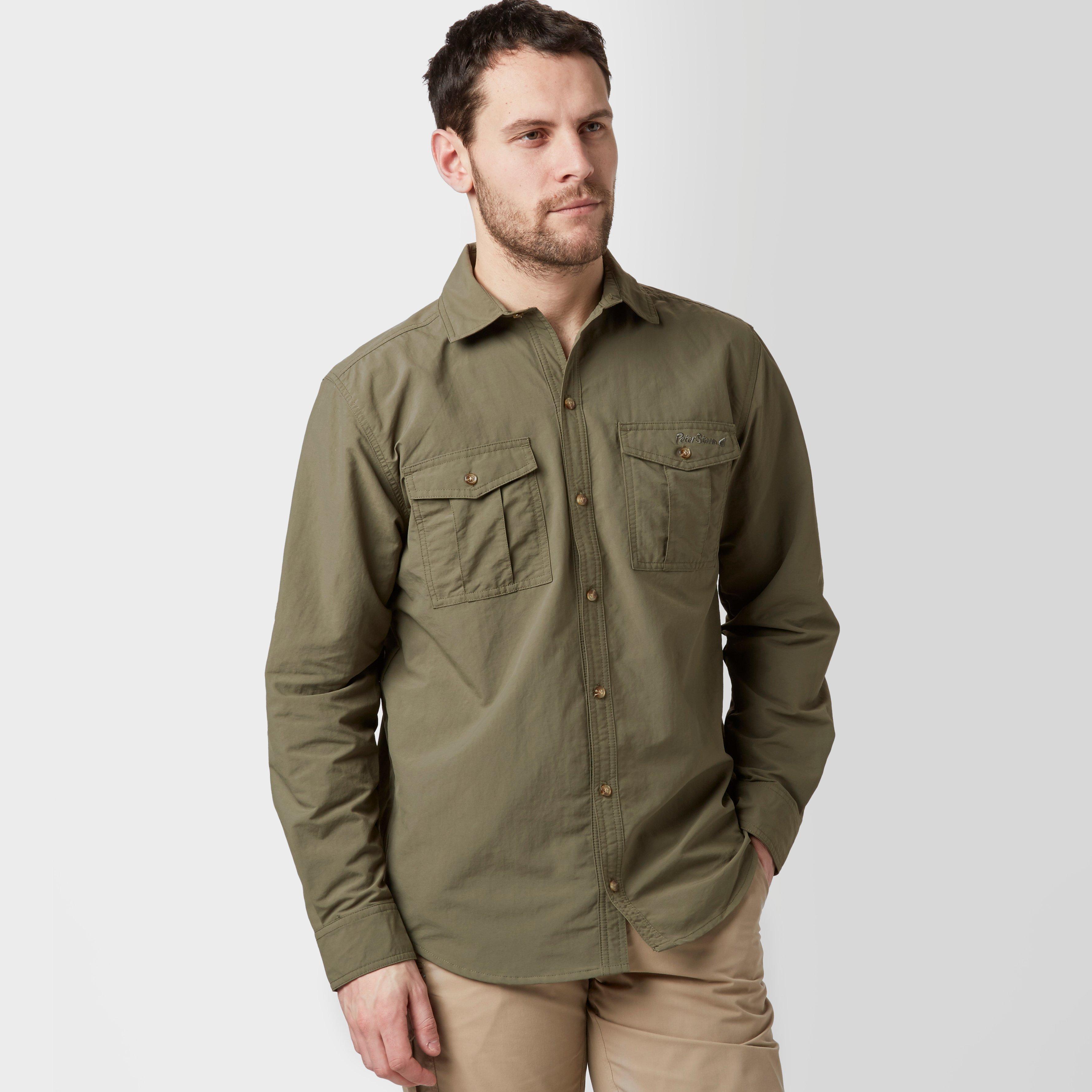 Peter Storm Mens Long Sleeve Travel Shirt - Khaki/dol  Khaki/dol