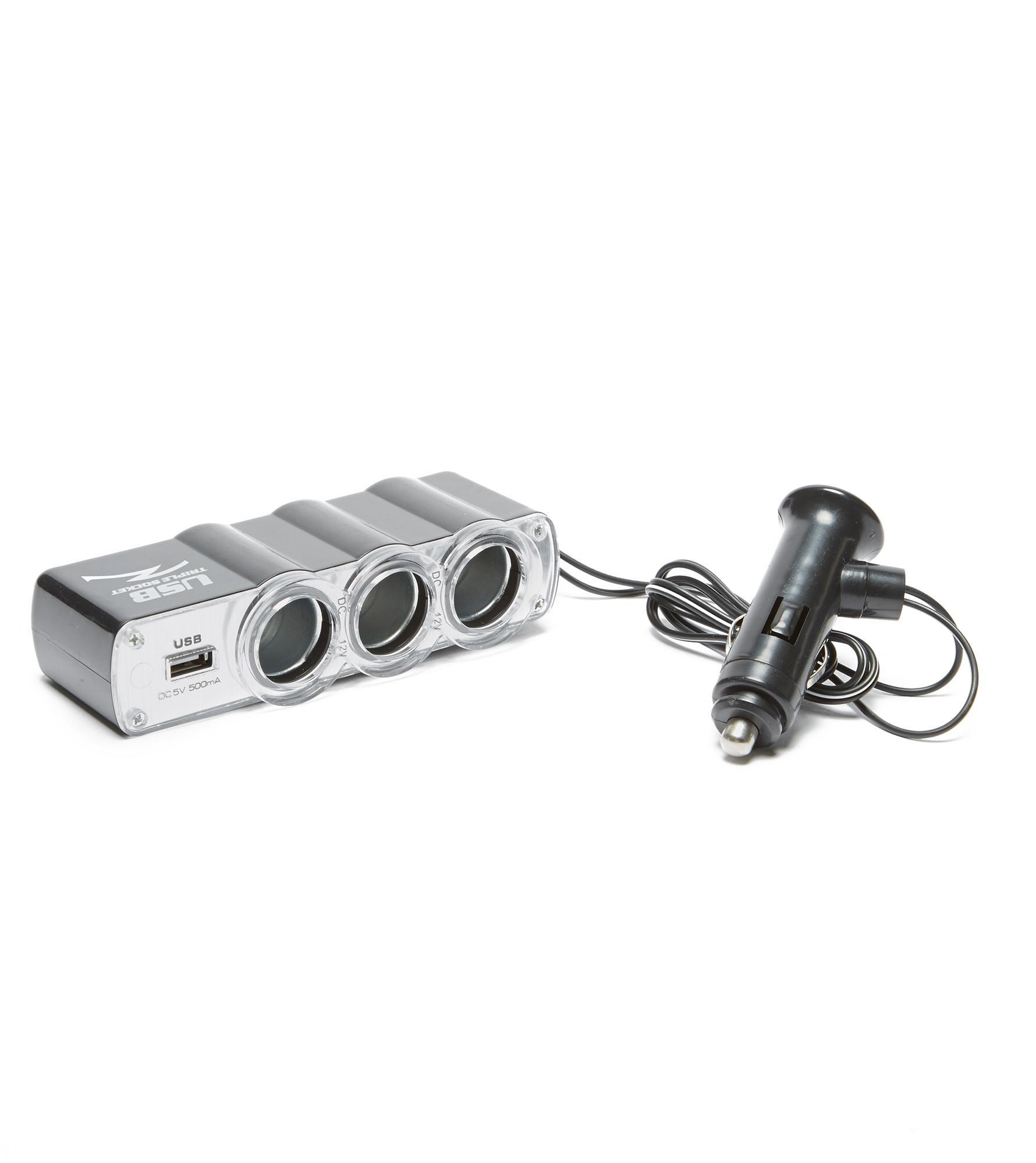 Boyz Toys Car Power Adapter - Silver, Silver