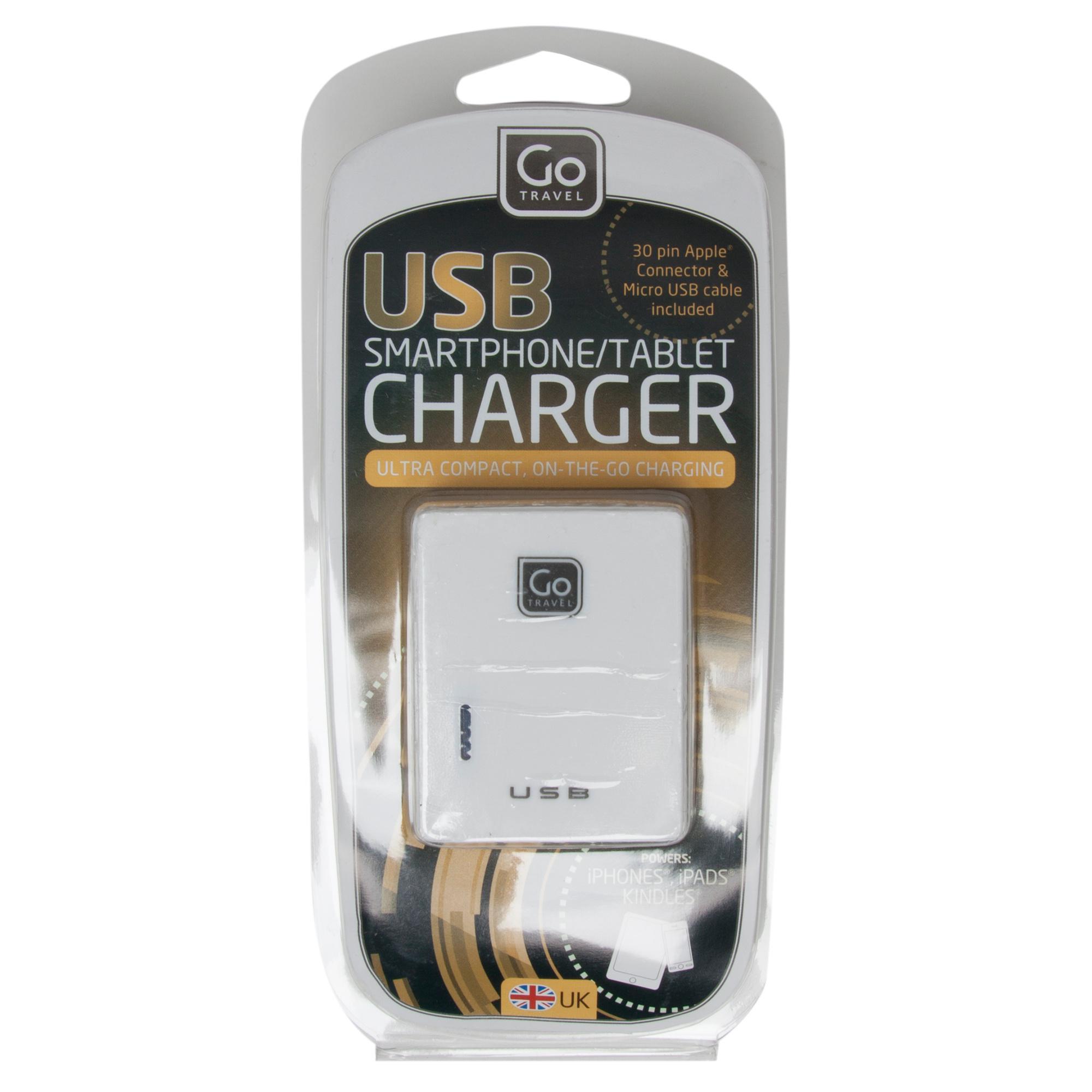 Design Go Twin USB Charger (UK) - White, White