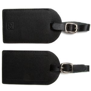 DESIGN GO Leather Luggage Labels Twin Pack