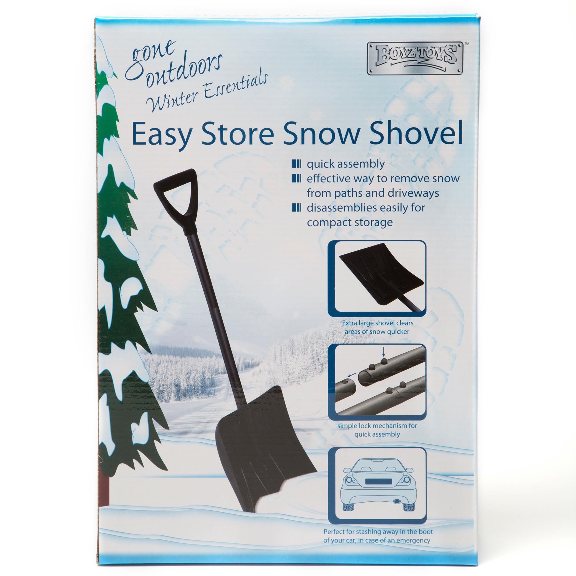 Boyz Toys Easy Store Snow Shovel - Black  Black
