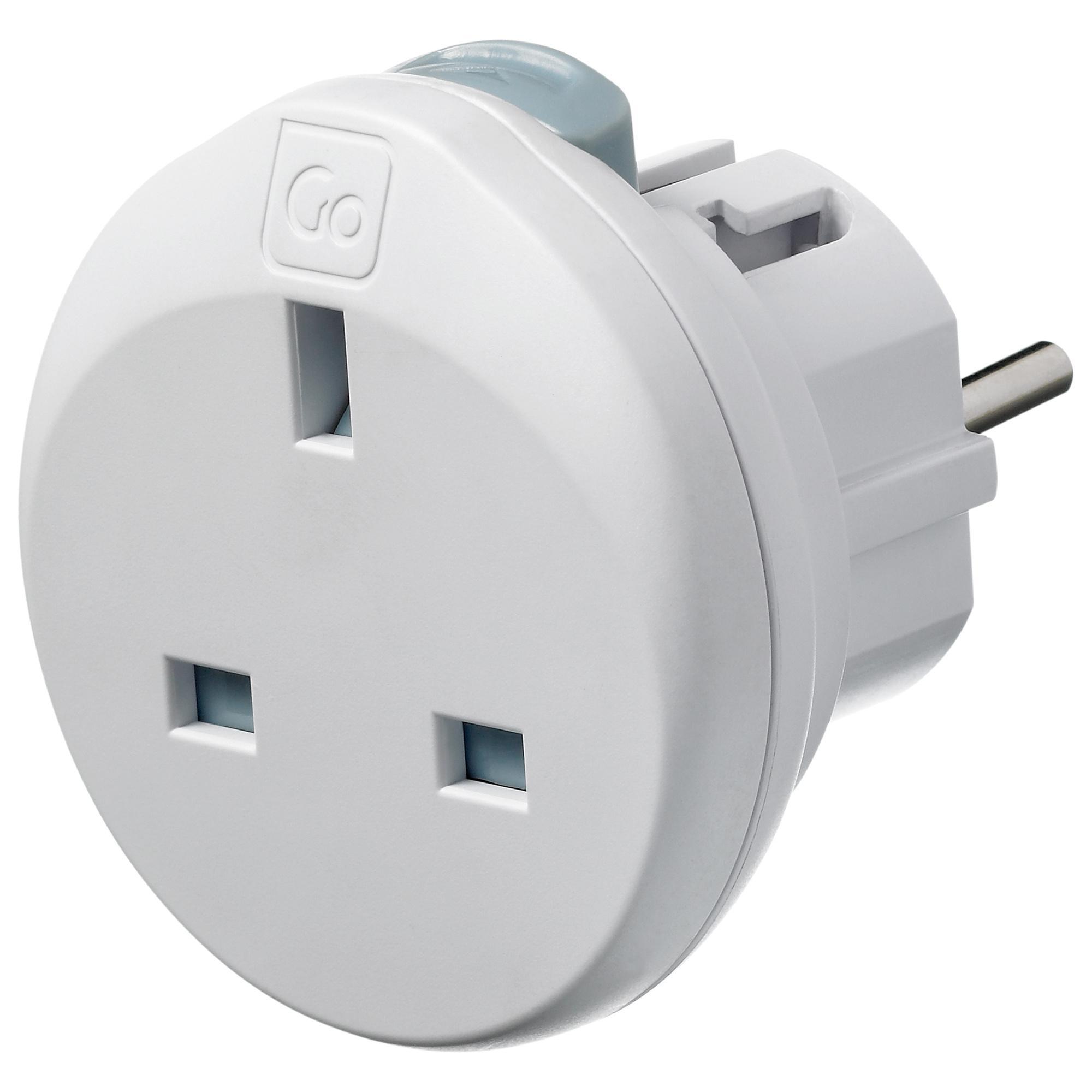 Design Go Mini Global Travel Adapter, White