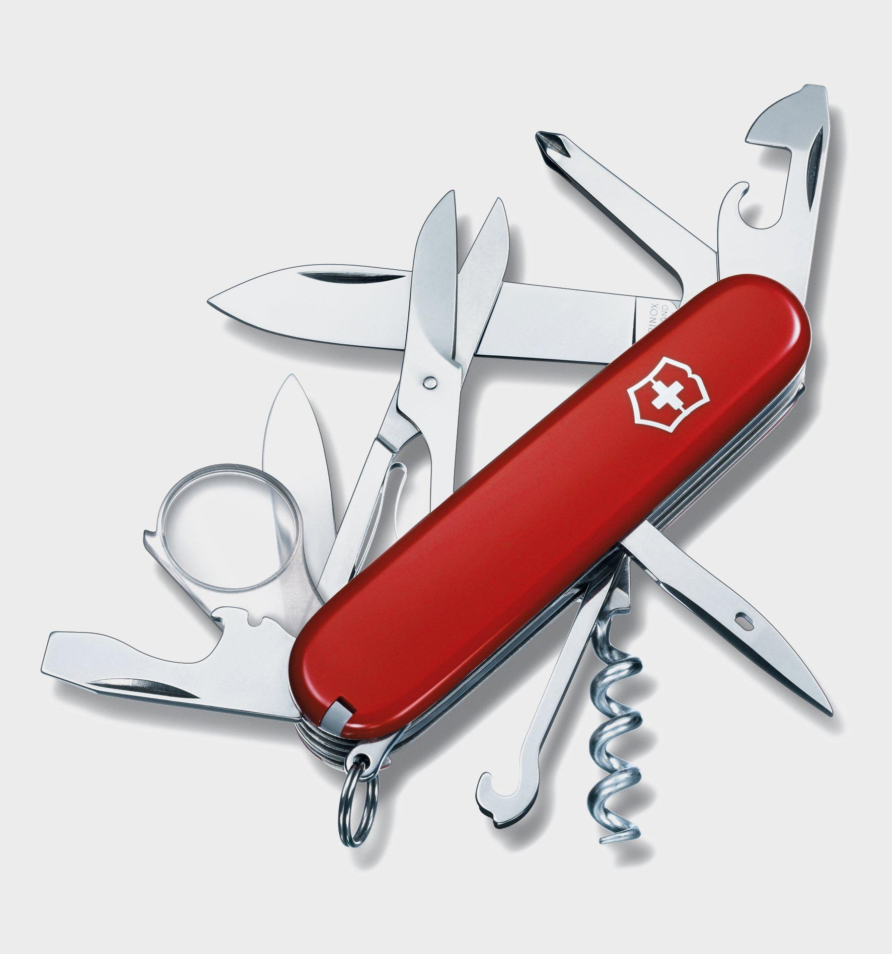 Victorinox Explorer Pocket Knife, Red