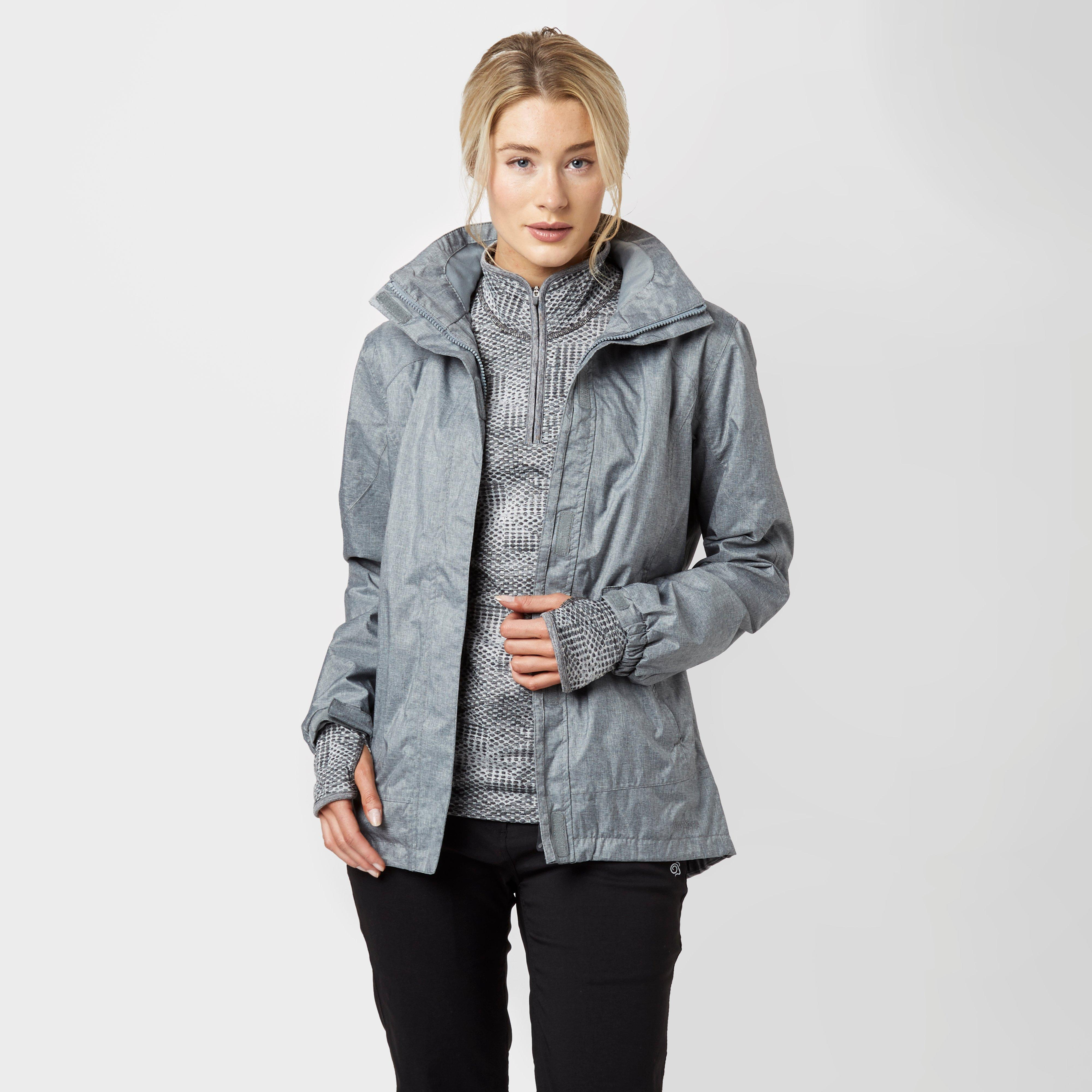 Peter Storm Women's Glide Waterproof Jacket, Grey