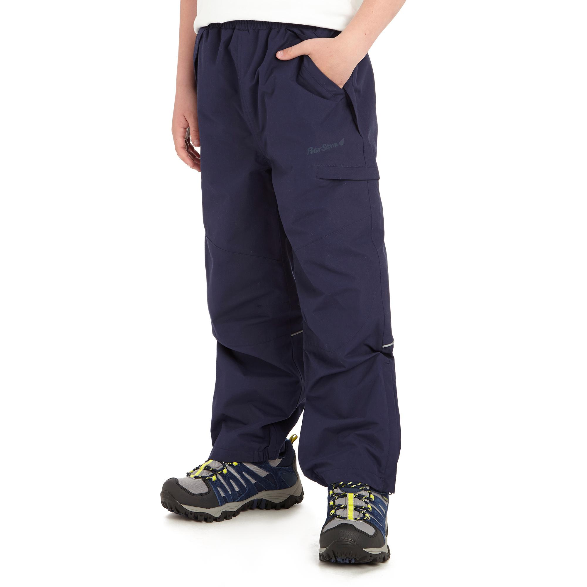 Peter Storm Boys Typhoon Waterproof Trousers Navy