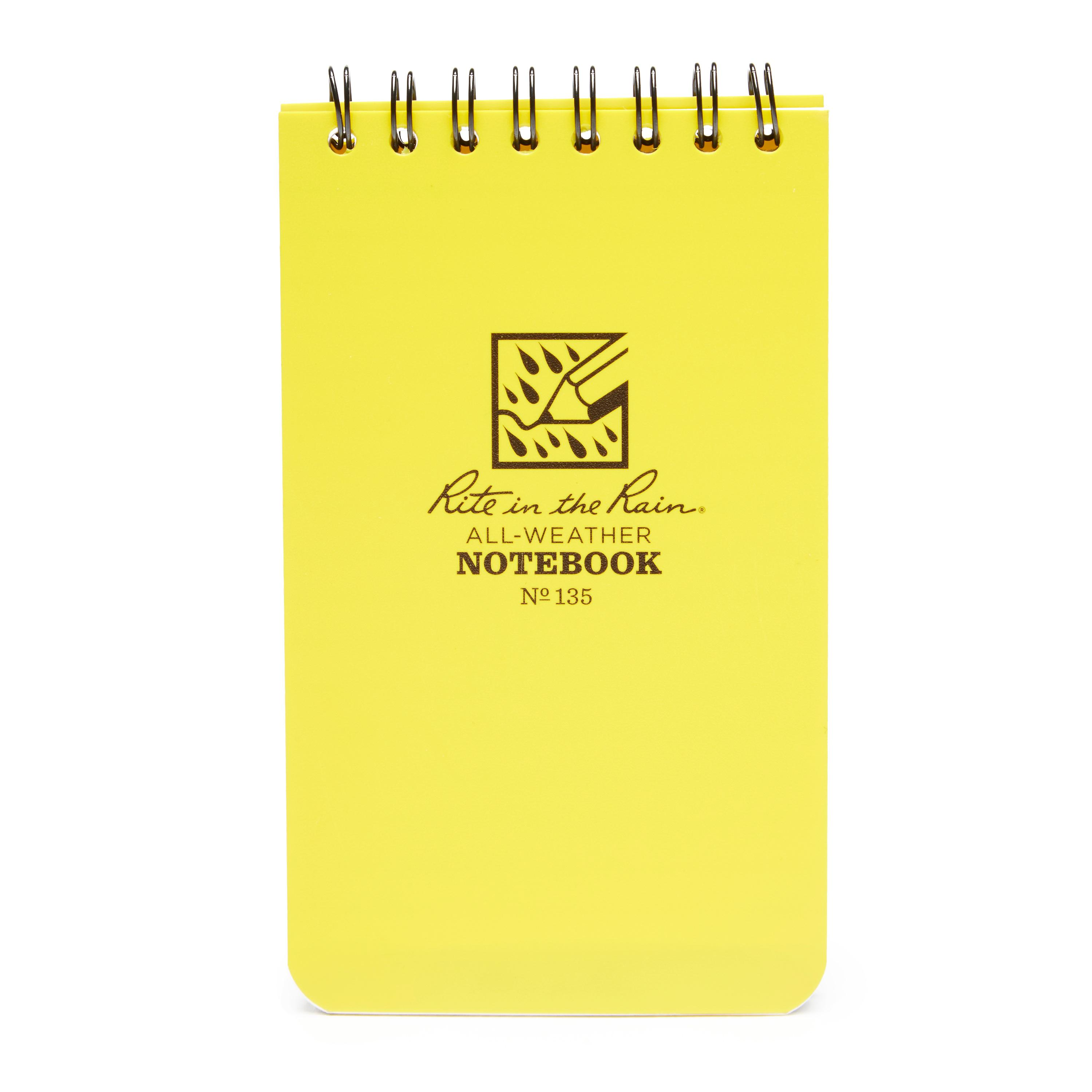 "Rite Waterproof 3"" x 5"" Notepad Yellow"