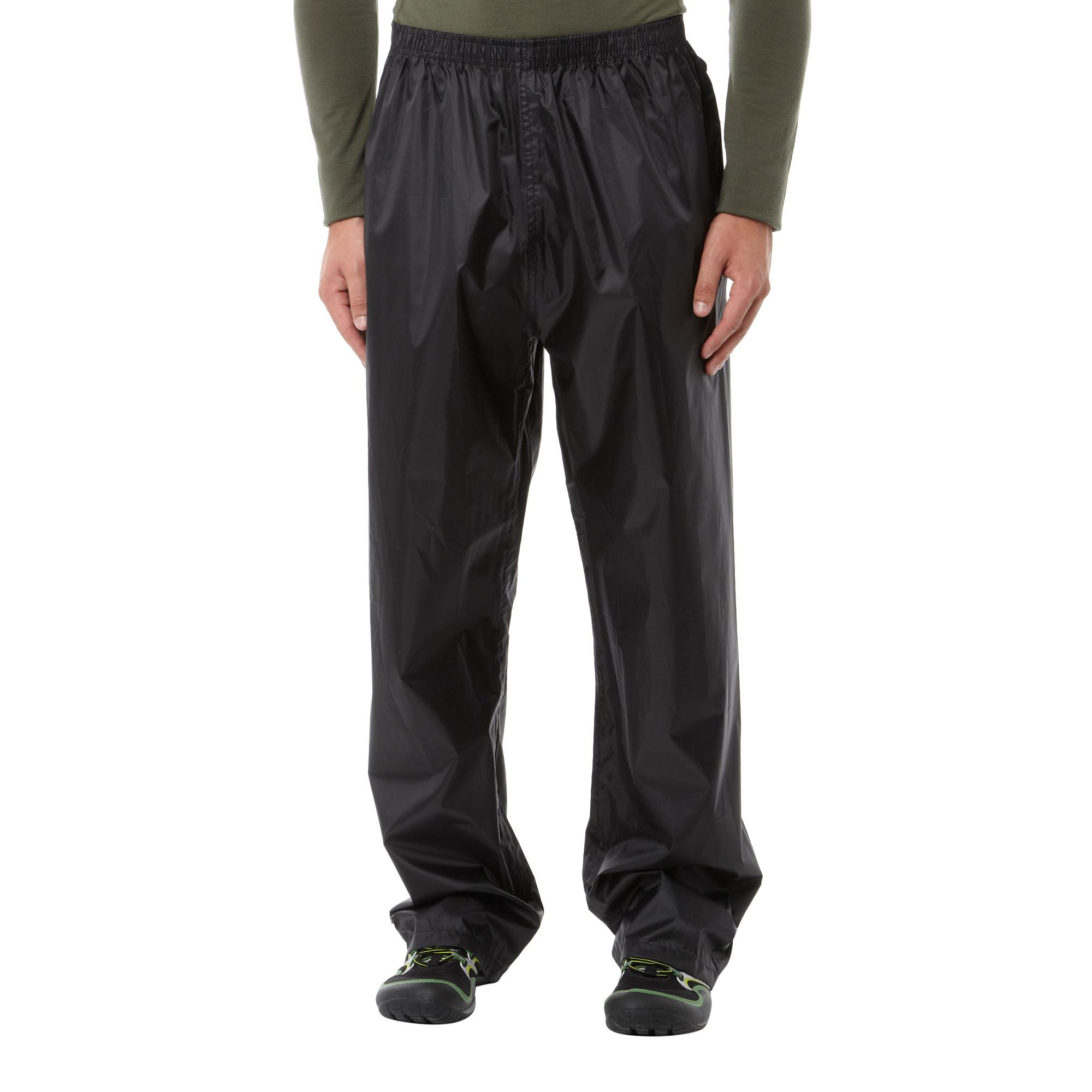Peter Storm Mens PackAway Trousers Black