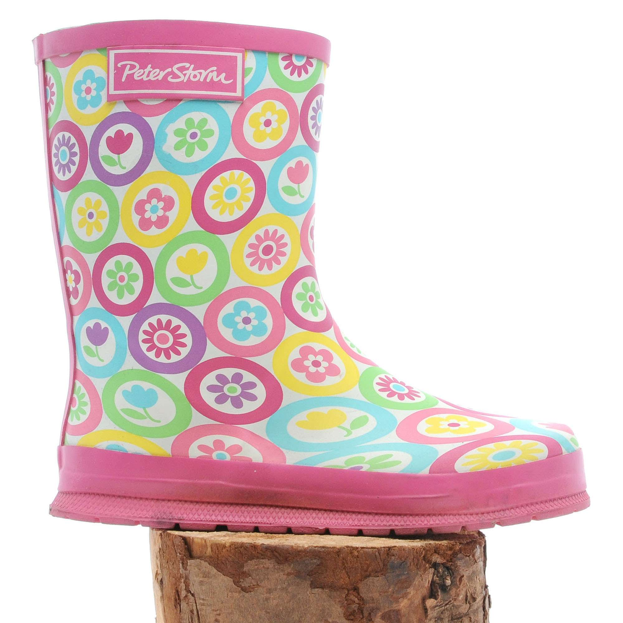PETER STORM Girls' Floral Wellies