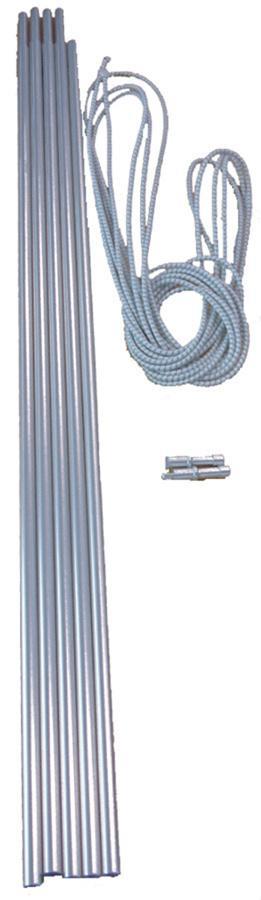 Vango Alloy Corded 8.5mm Tent Pole Set Silver