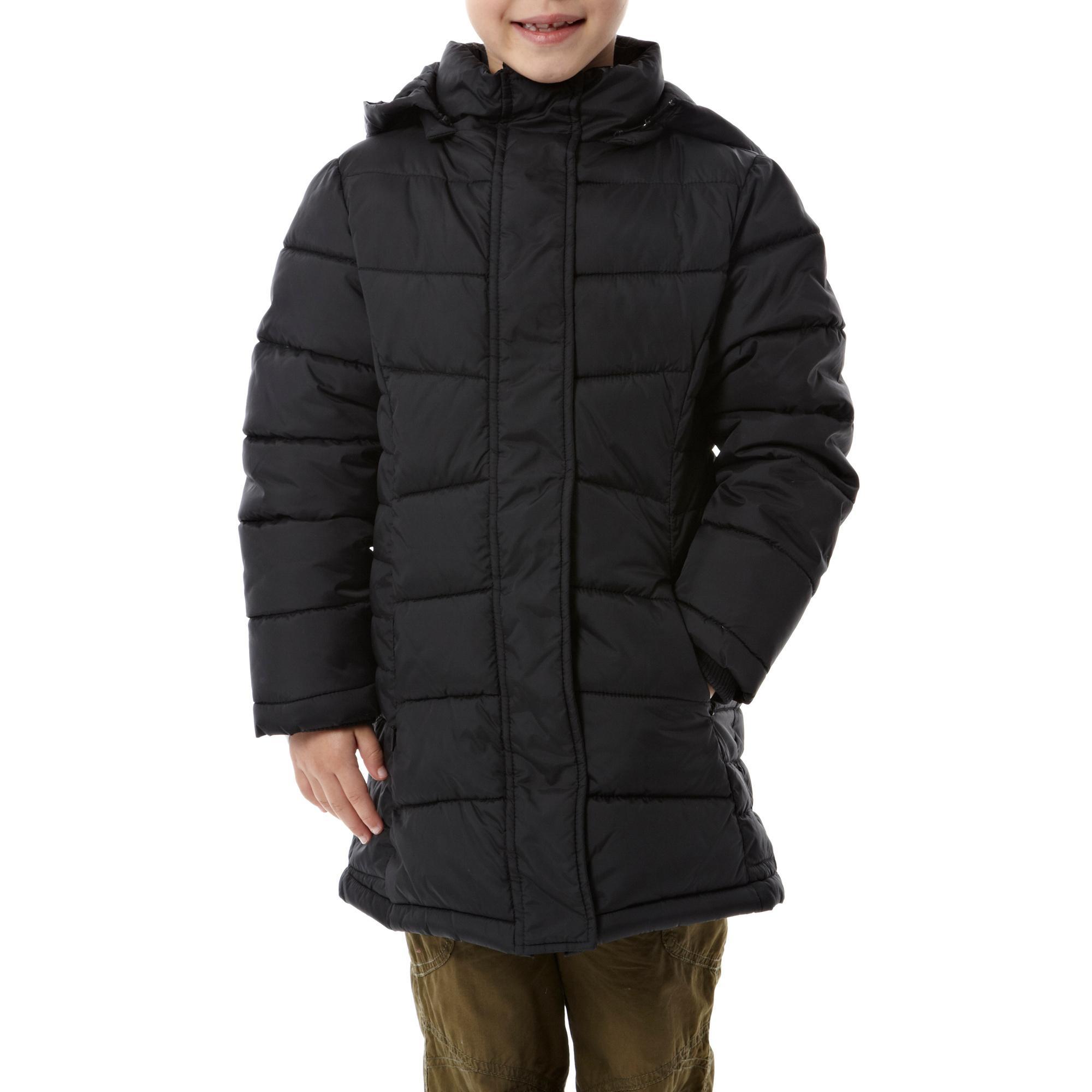 Peter Storm Girls Longline Straight Baffle Jacket Black