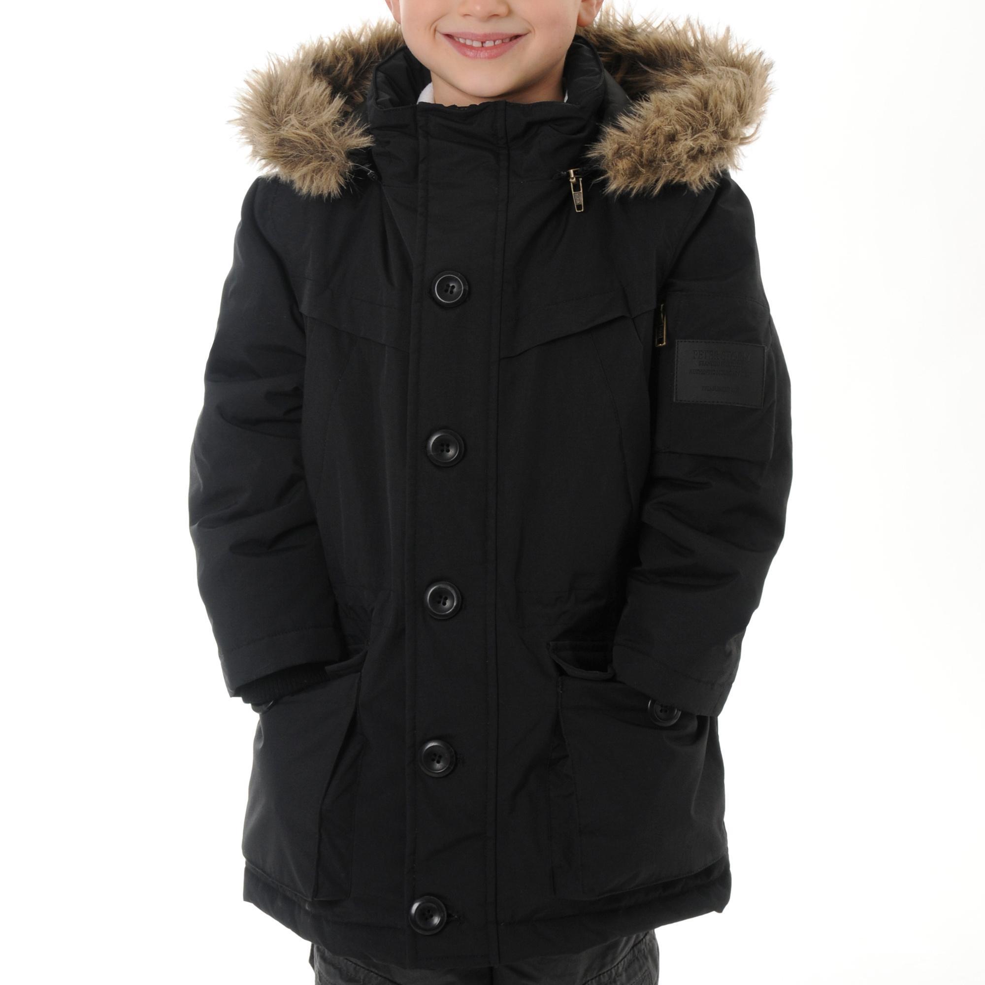 Peter Storm Boys Parka Jacket Black