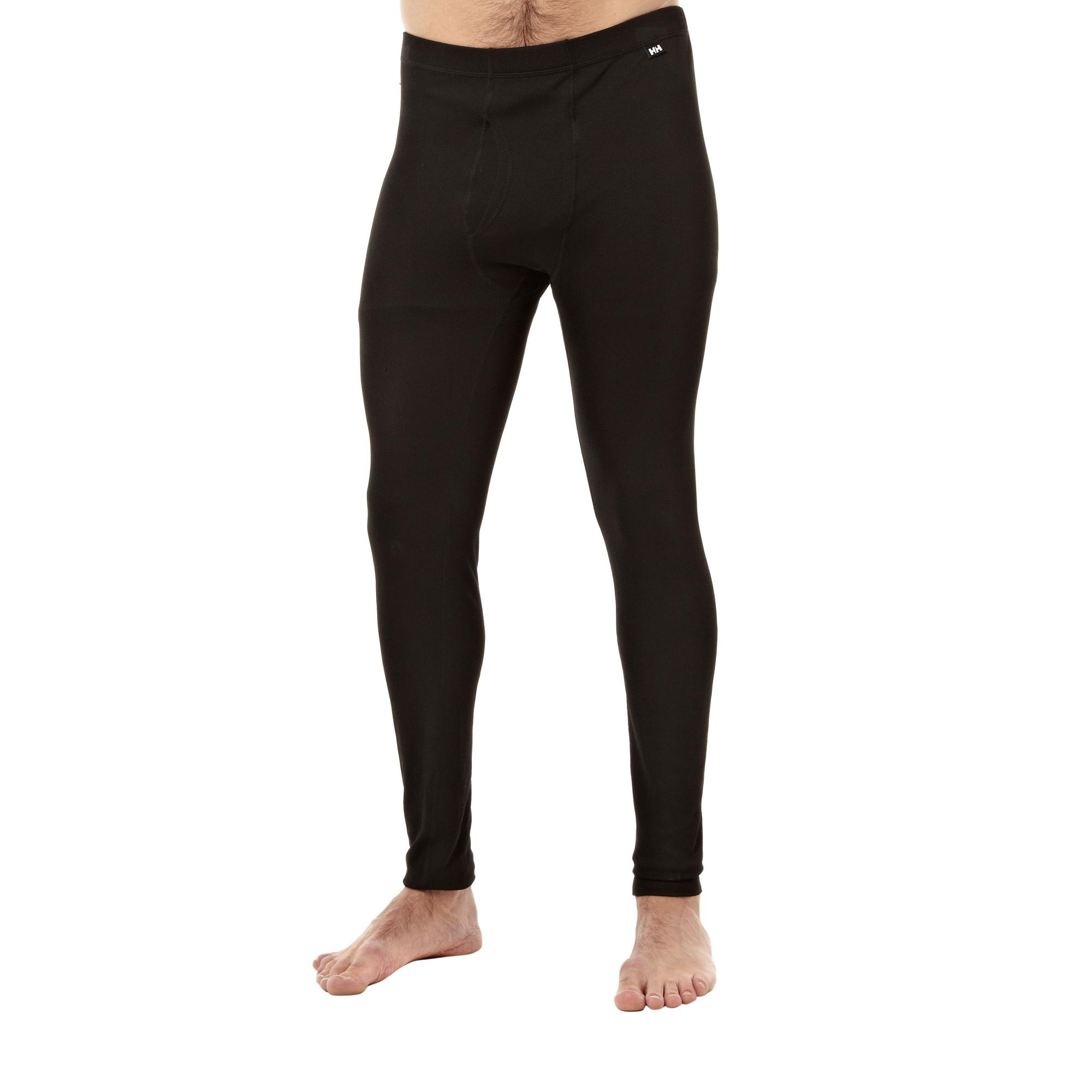 Helly Hansen Men's Dry Fly Base Layer Bottoms, Black