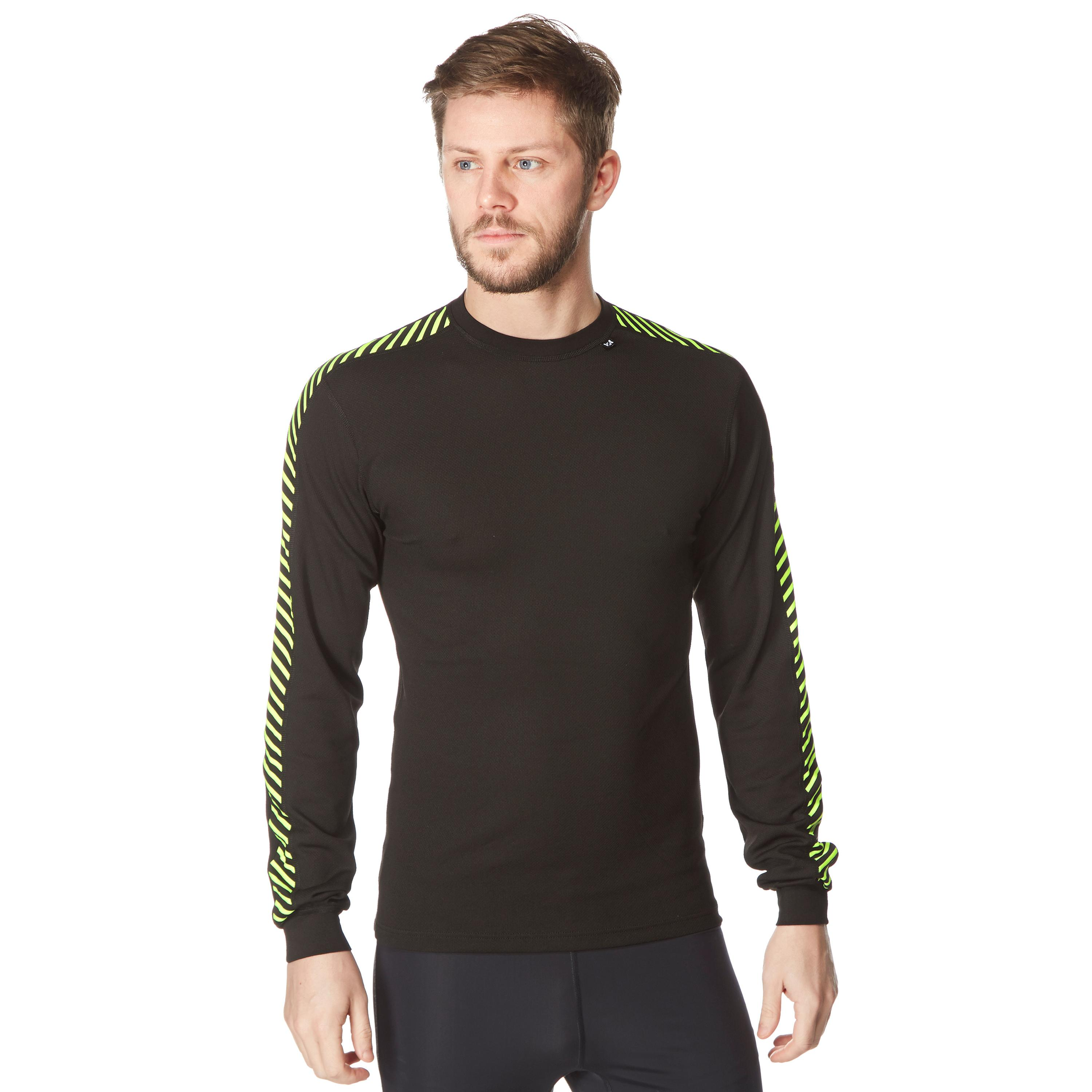 Helly Hansen Men's Dry Stripe Crew Base Layer Top, Black
