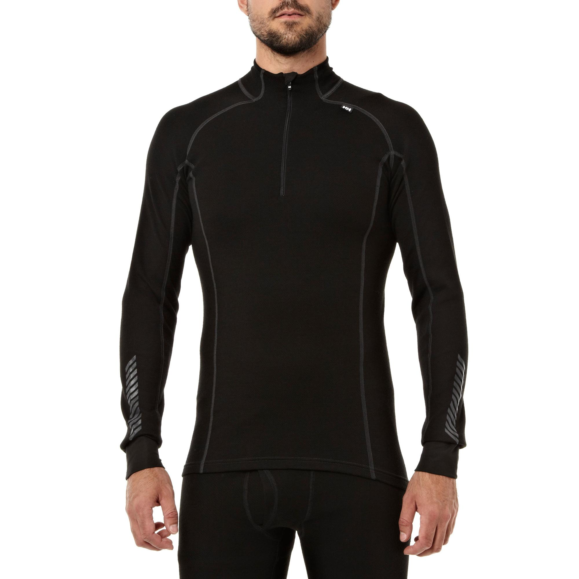 Helly Hansen Men's Warm Freeze Half Zip Base Layer, Black