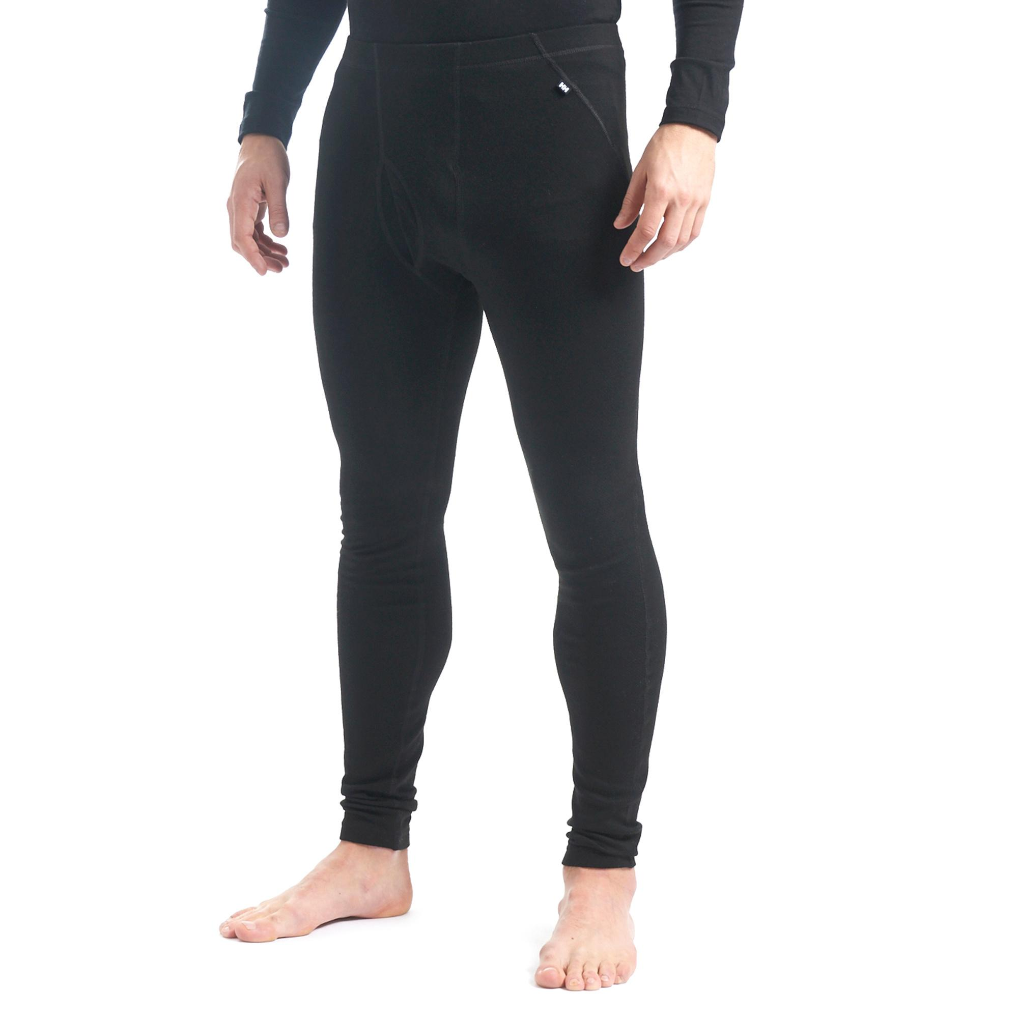 Helly Hansen Men's Warm Base Layer Bottoms, Black