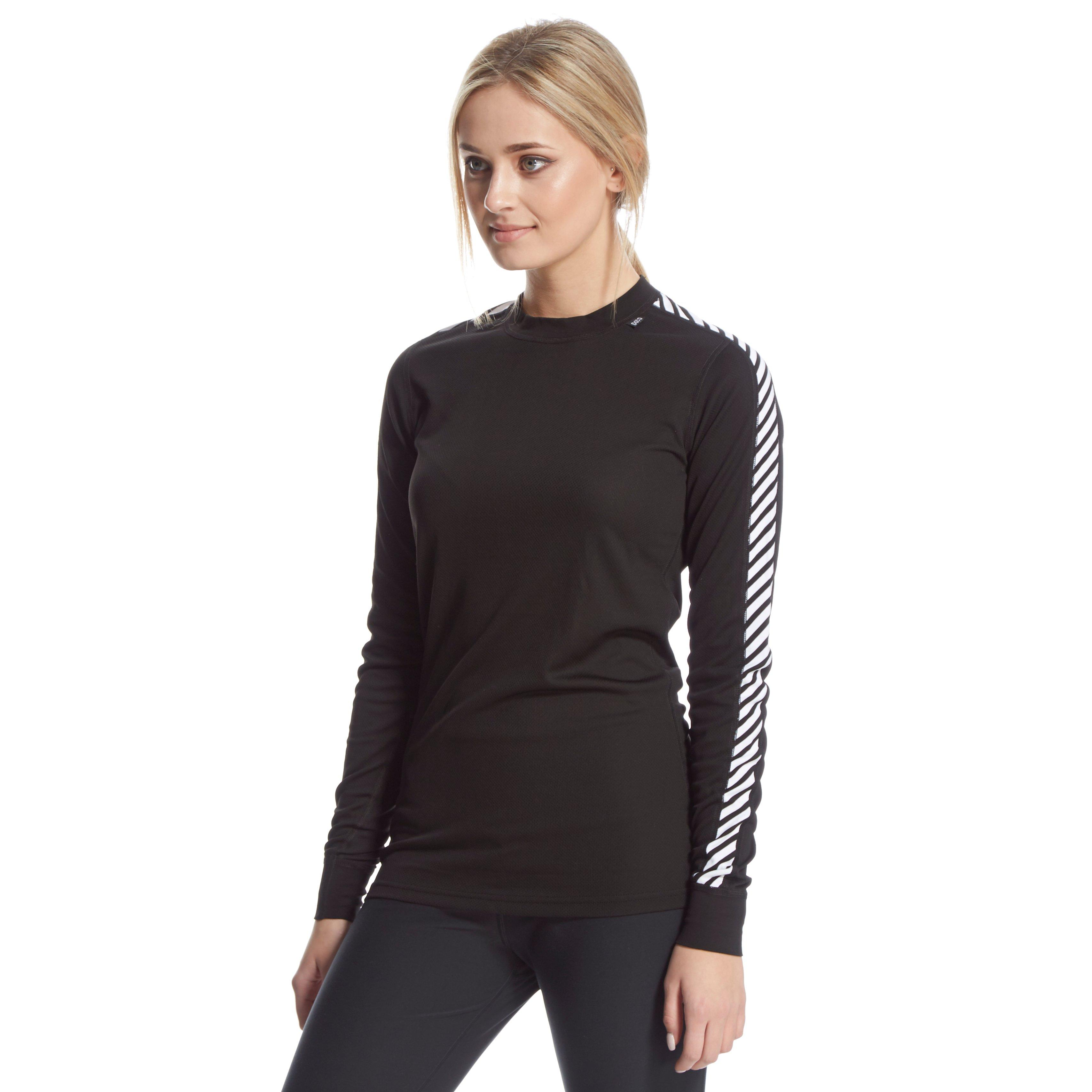 Helly Hansen Women's Dry Original Crew Base Layer, Black