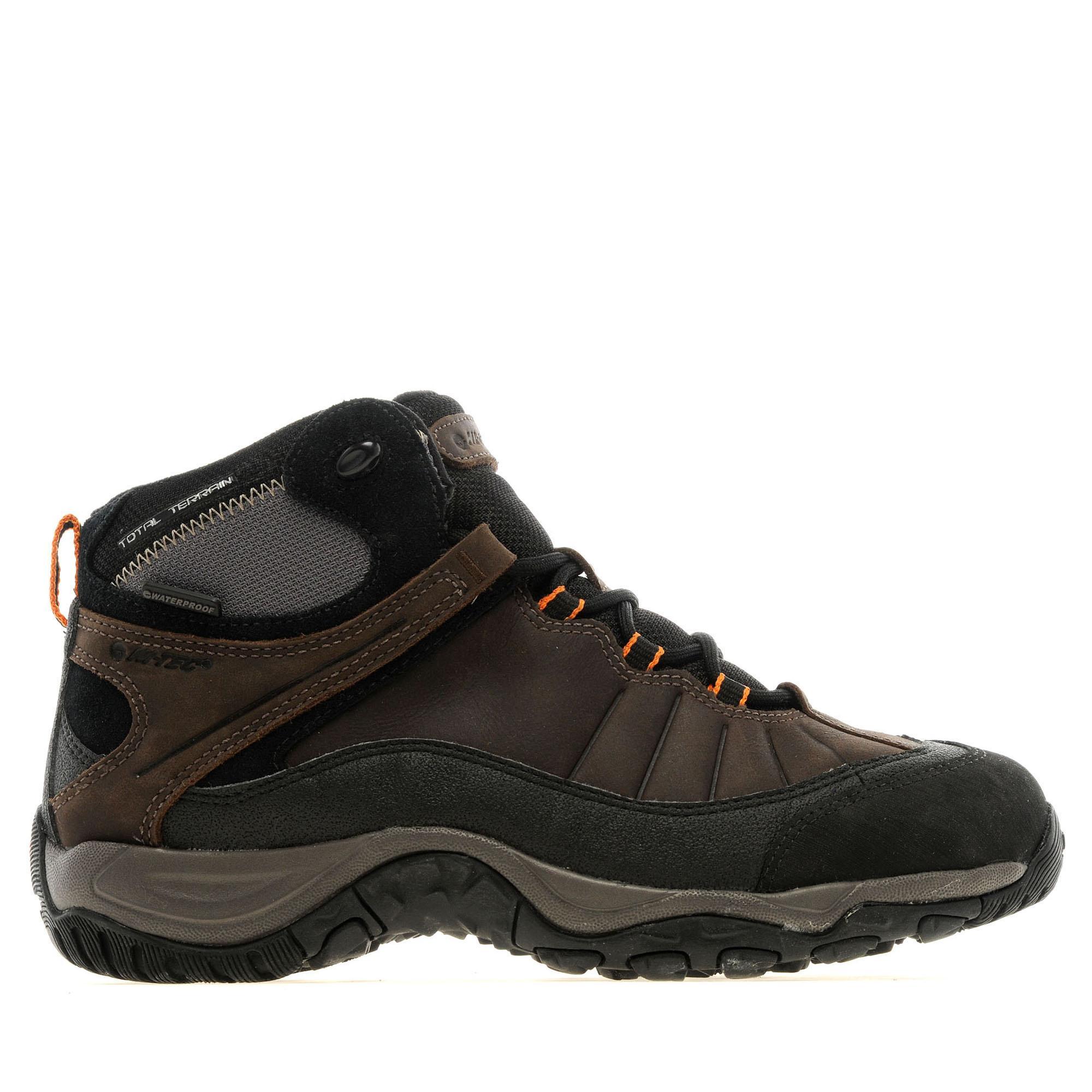 Hi Tec Mens Adventurer Lace Waterproof Walking Boots Brown