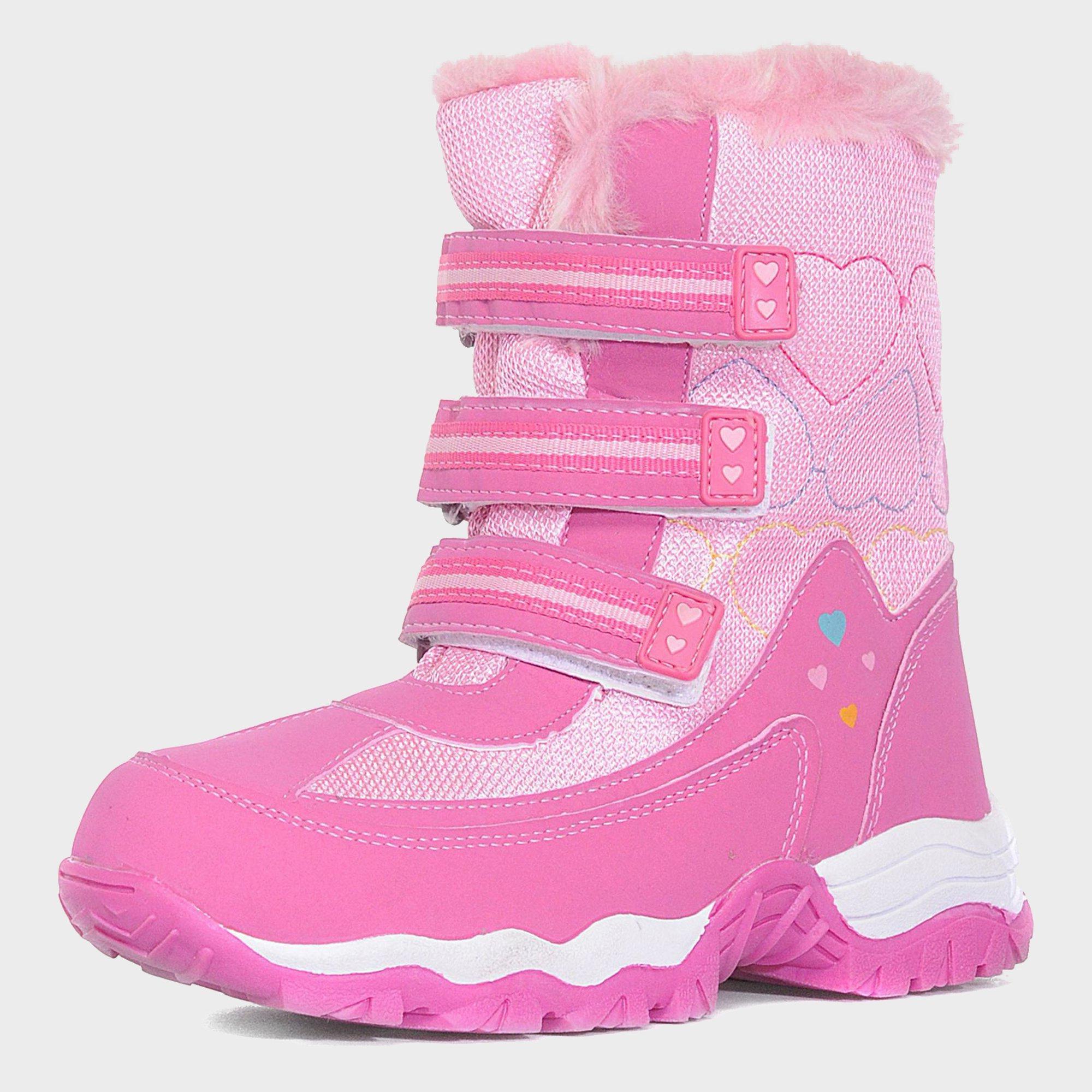 Alpine Girls' Fur Snow Boots, Pink
