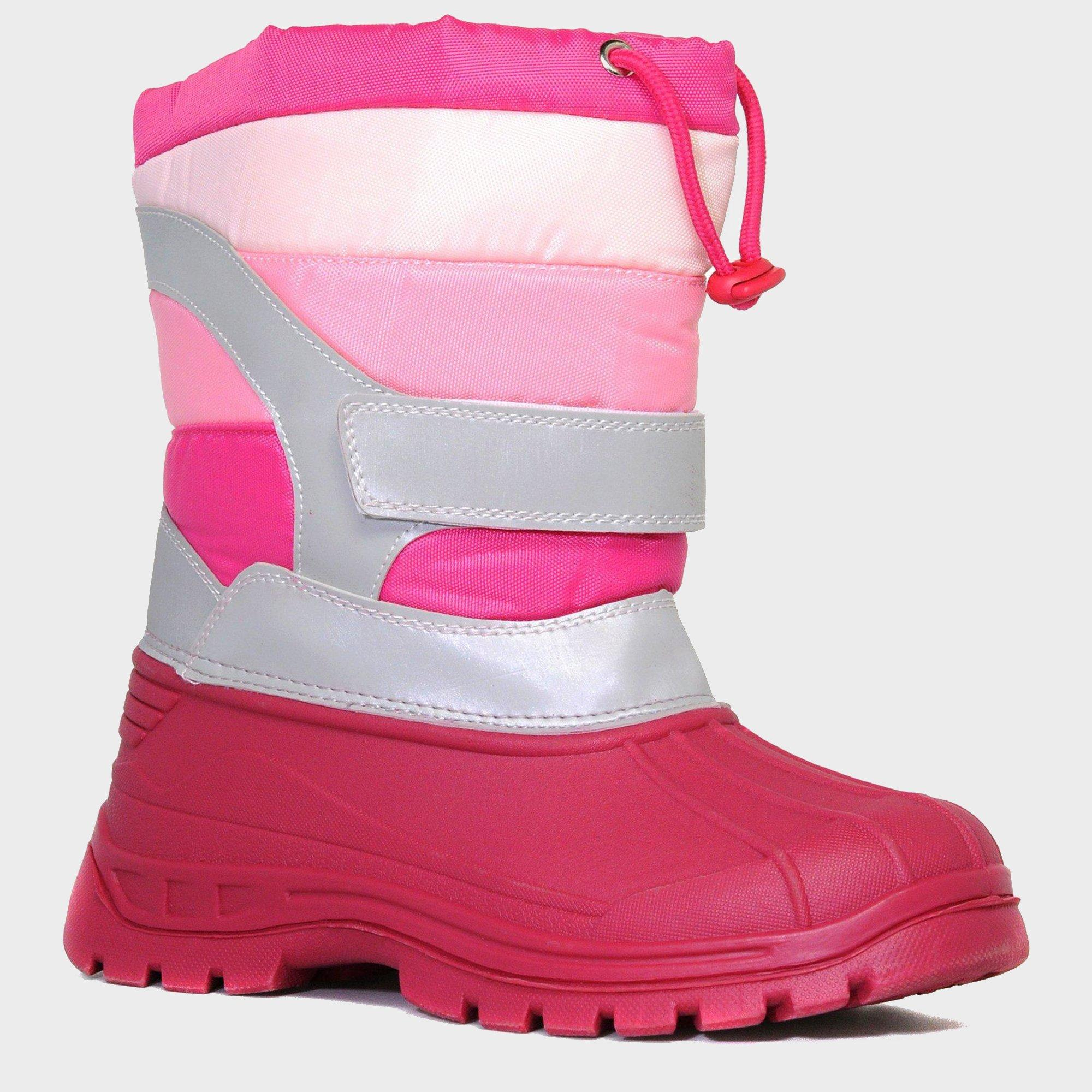 Alpine Girl's Duck Snow Boots, Pink
