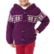 Girl's Fair Isle Knit Cardigan