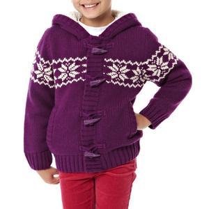 PETER STORM Girl's Fair Isle Knit Cardigan