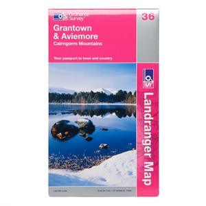ORDNANCE SURVEY Landranger 36 Grantown & Aviemore Map