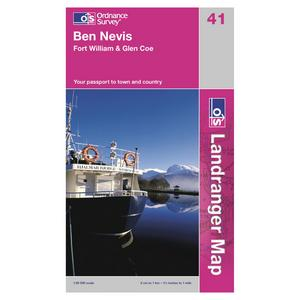 ORDNANCE SURVEY Landranger 41 Ben Nevis, Fort William & Glen Coe Map