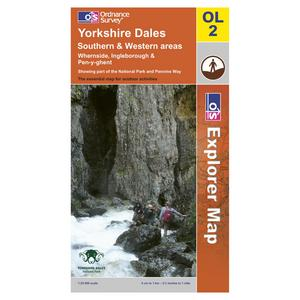 ORDNANCE SURVEY Explorer OL2 Yorkshire Dales Southern & Western Areas Map