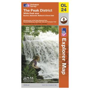 ORDNANCE SURVEY Explorer OL24 The Peak District White Peak Area Map