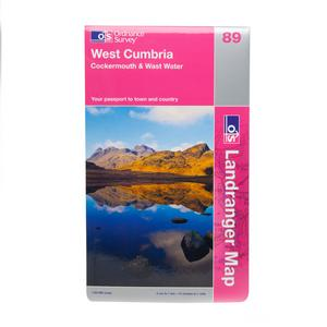 ORDNANCE SURVEY Landranger 89 West Cumbria, Cockermouth & Wast Water Map