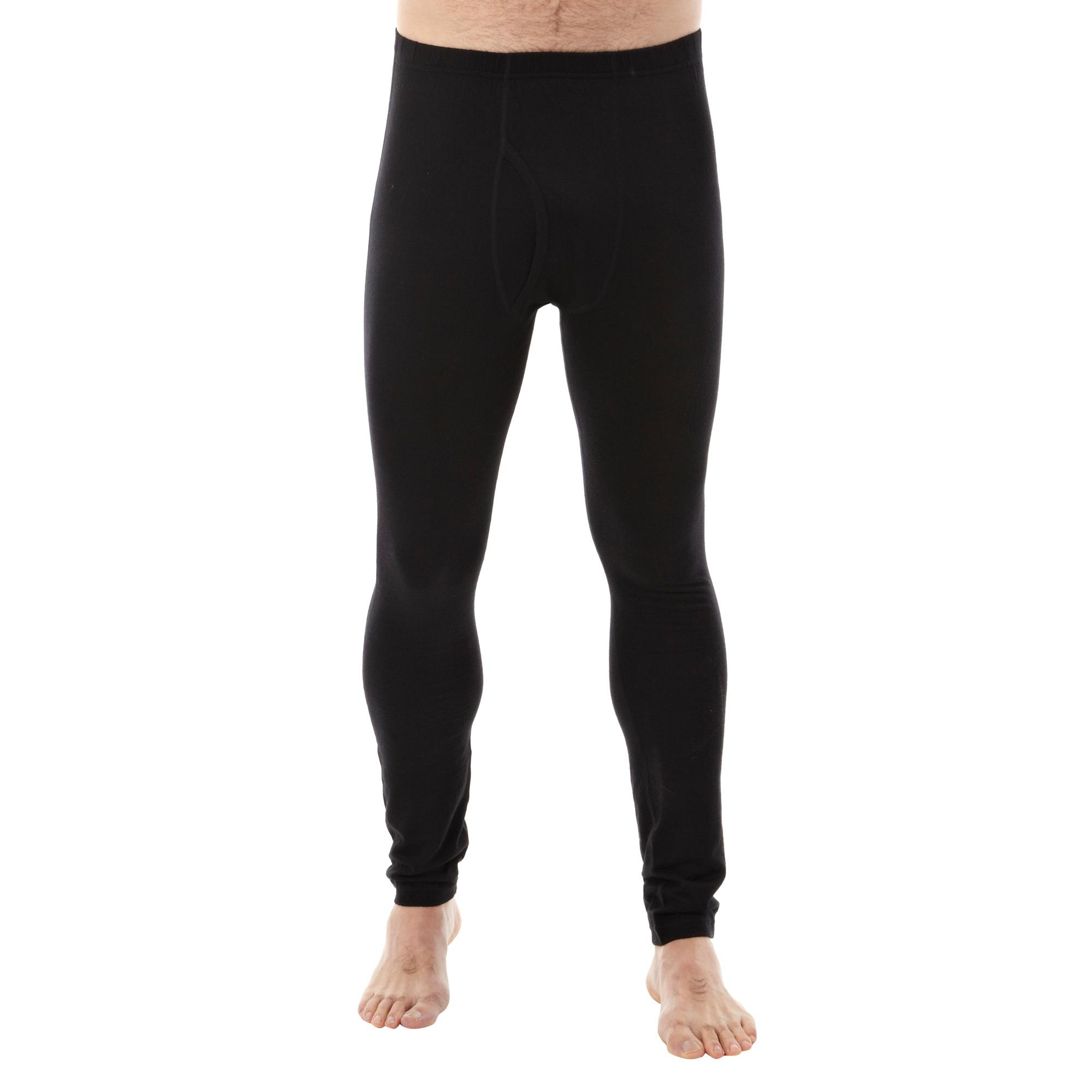 Peter Storm Men's Merino Base Layer Pants, Black