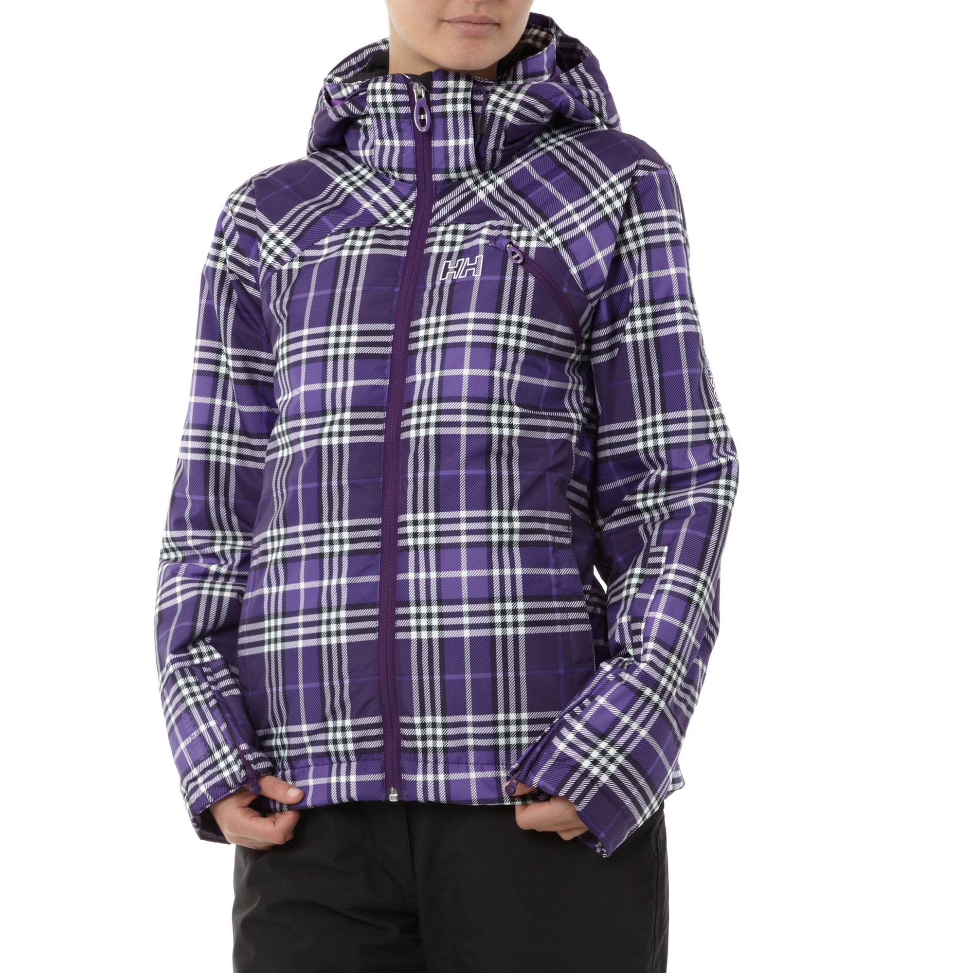 Helly Hansen Womens JPN Check Ski Jacket Purple