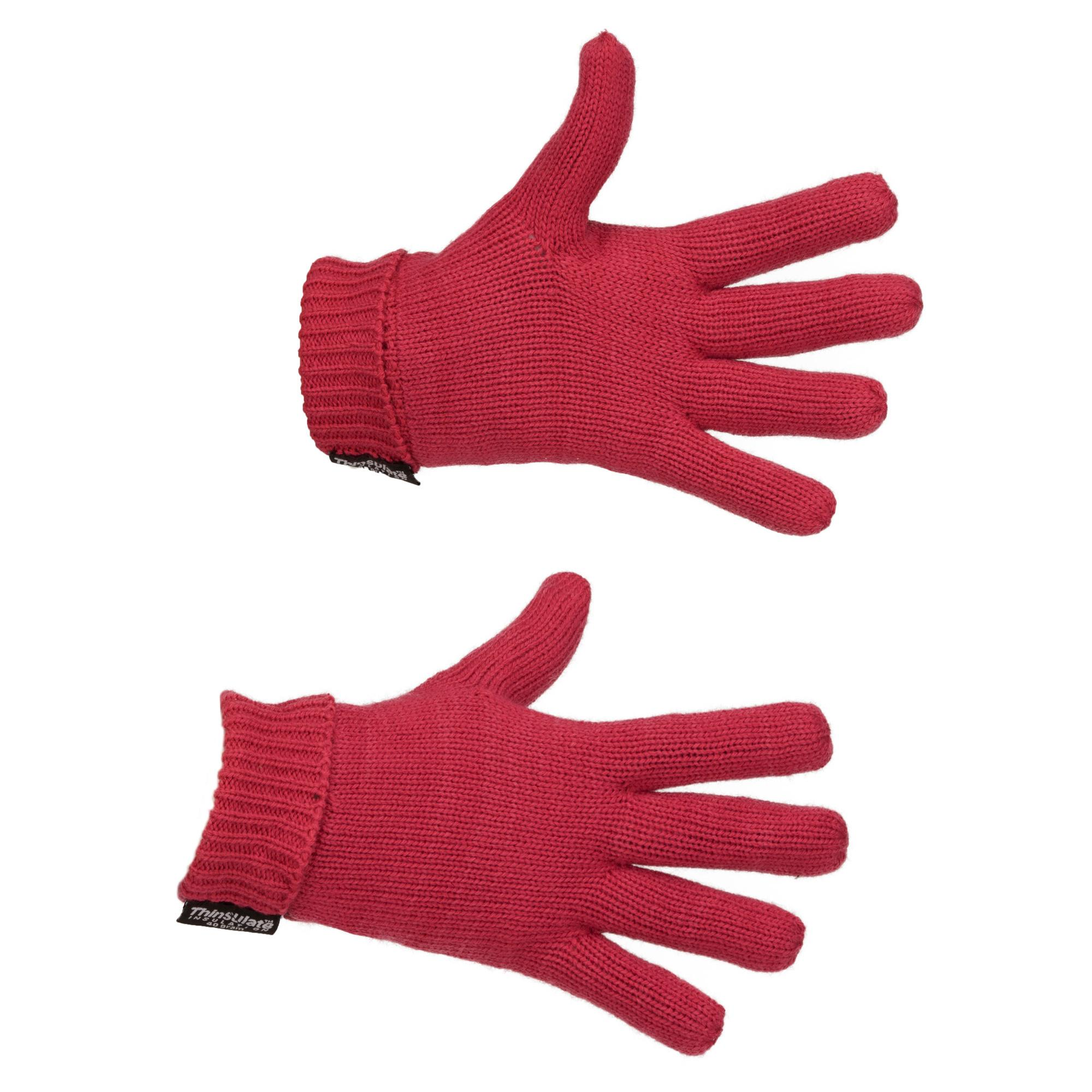 Peter Storm Girls Cable Knit Gloves Pink