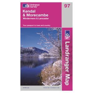 ORDNANCE SURVEY OS Landranger 97 Kendal & Morecambe, Windermere & Lancaster Map