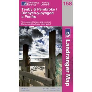 ORDNANCE SURVEY OS Landranger 158 Tenby & Pembroke Map