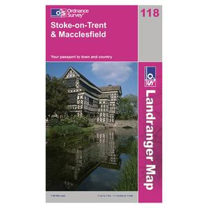 ORDNANCE SURVEY Landranger 118 Stoke-on-Trent & Macclesfield Map