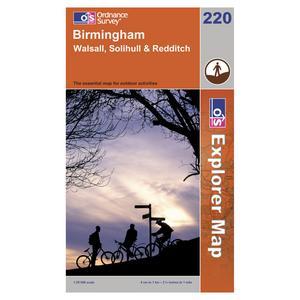 ORDNANCE SURVEY Explorer 290 - Birmingham, Walsall, Solihull & Redditch Map