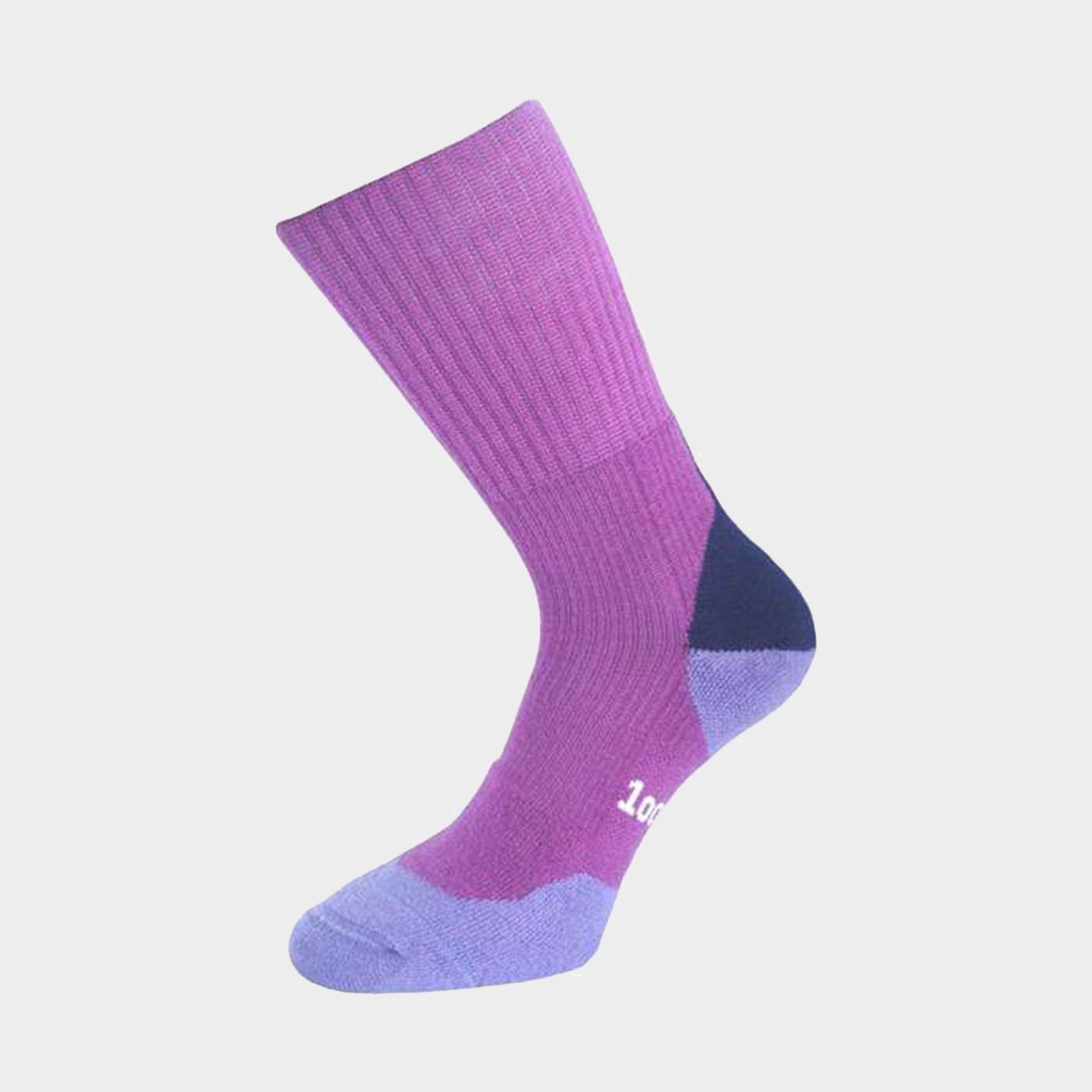 1000 Mile Womens Fusion Walking Socks - Grape/grape  Grape/grape