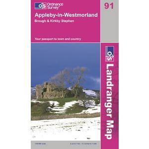 ORDNANCE SURVEY OS Landranger 91 Appleby-in-Westmorland Map