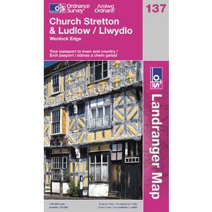 ORDNANCE SURVEY OS Landranger 137 Ludlow & Church Stretton, Wenlock Edge Map