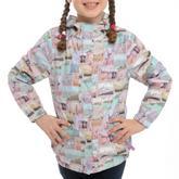 Girls' Postcard Waterproof Jacket