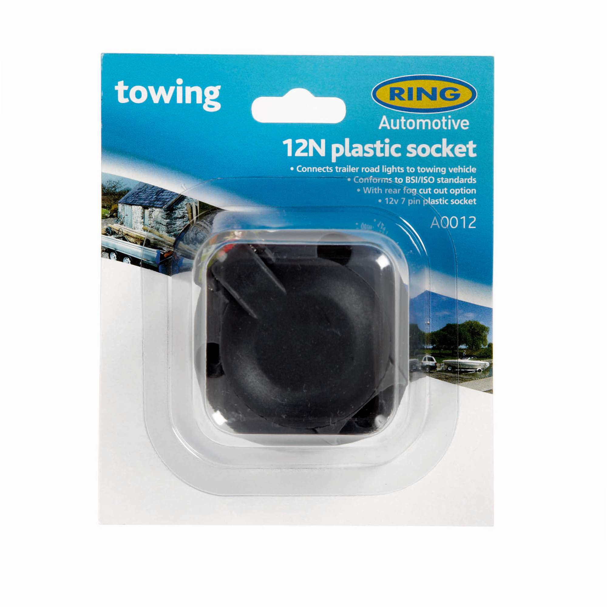 RING 12N 7 Pin Plastic Socket with Fog Cut Out (A0012)