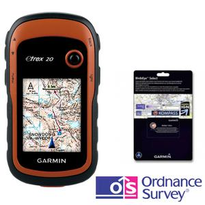 GARMIN eTrex 20 GPS with BirdsEye Select Mapping Voucher