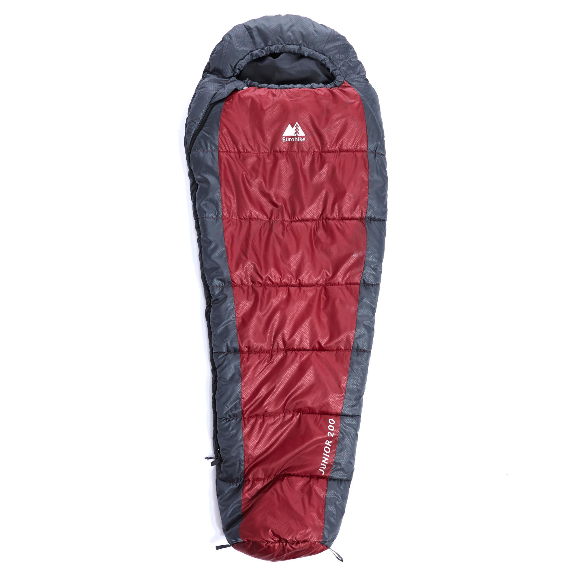 EUROHIKE Junior 200 Girls Mummy Sleeping Bag - Red | eBay