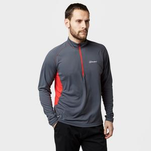 BERGHAUS Men's Tech LS Zip Tee