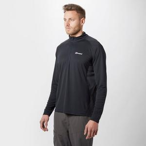 BERGHAUS Men's Tech Long Sleeve Zip Tee