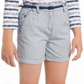 Girls' Ticking Stripe Shorts